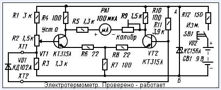 Термометр для самогоного аппарата